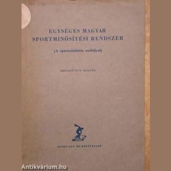 Egységes magyar sportminősítési rendszer
