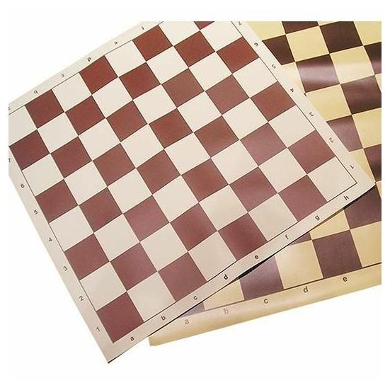 Gyűrhetetlen' sakkvászon, barna (55x55)