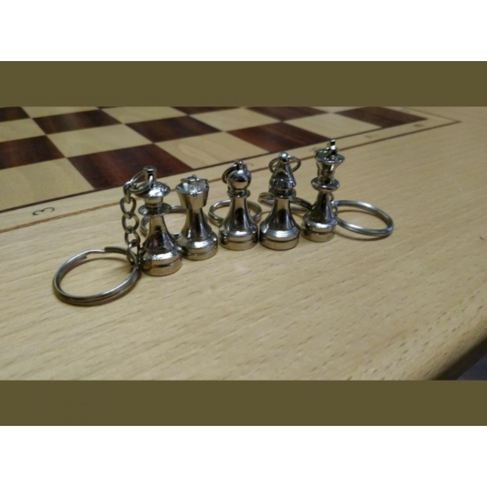 Fém kulcstartó - ezüst
