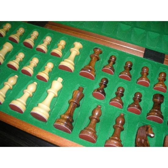 Fischer Intarziás Fa Versenysakk Készlet