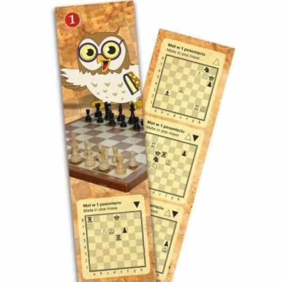 Sakk könyvjelző mattfeladványokkal
