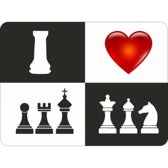 Szeretem a sakkot - egérpad