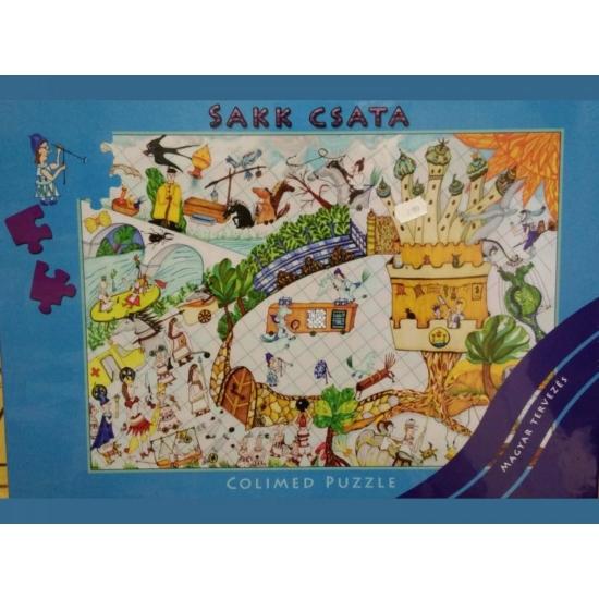 Sakk csata puzzle - 500 darabos