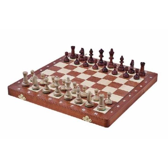 Tournament 3 fa intarziás és mágneses sakk-készlet 140F