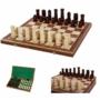 Kép 2/2 - Castle Large 106A Díszesen faragott fa sakk-készlet intarziás táblával