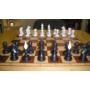 Kép 3/3 - Elefántcsont színű súlyozott műanyag sakk figurakészlet